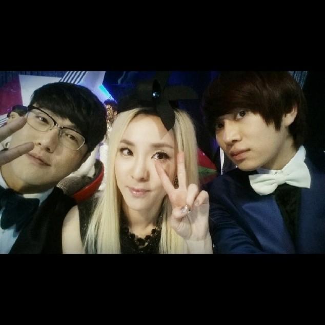 HeeChul 'Super Junior' Mengunggah Fotonya dengan Sandara Park '2NE1' dan Sung Shi Kyung