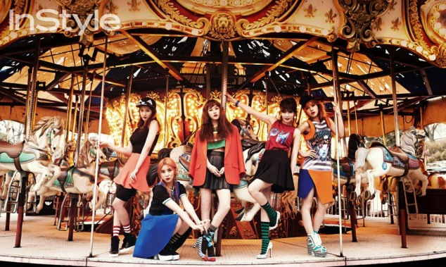 4Minute - InStyle Magazine April Issue 2014