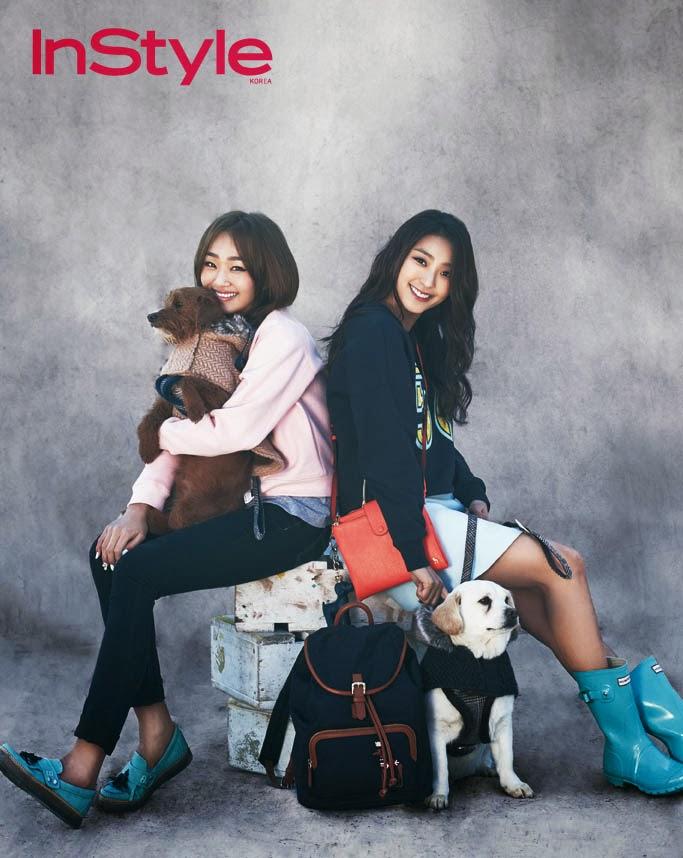 Bora and Hyorin SISTAR – InStyle Magazine March Issue 2014 ...Hyorin 2014